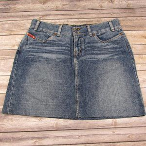 Guess Jean Skirt Size 32 Lightly Distressed